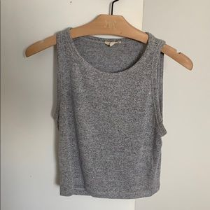 Wilfred free heathered grey cropped  tank top